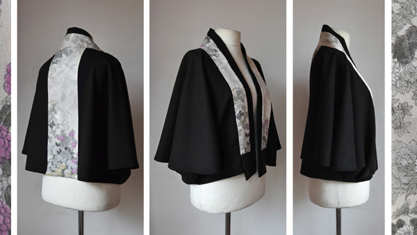 Cape Jacket with High Standing Collar